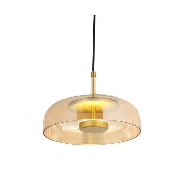 Подвесной светодиодный светильник Мелания медового цвета