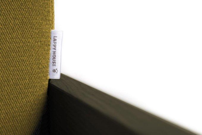 Диван-лежанка для животных Бивер горчичного цвета