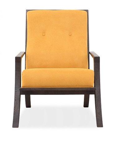 Кресло Лаундж дизайн 11 с обивкой из искусственной замши