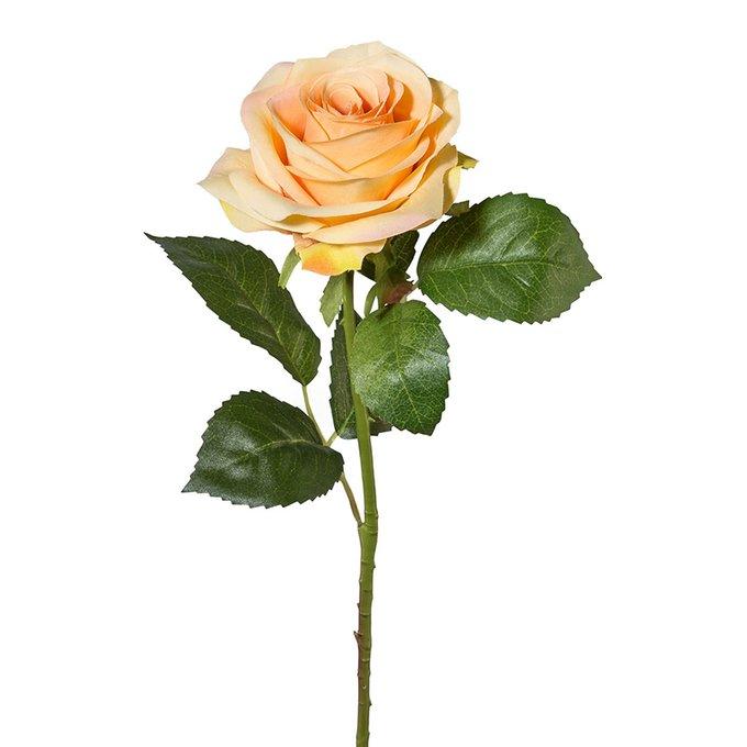 Искусственный цветок Rose оранжевого цвета