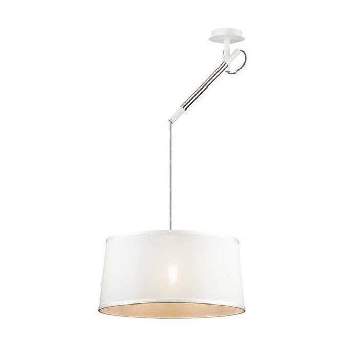 Подвесной светильник Loka с белым абажуром