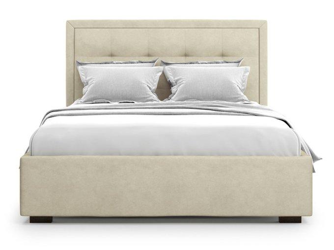 Кровать Komo 180х200 бежевого цвета с подъемным механизмом