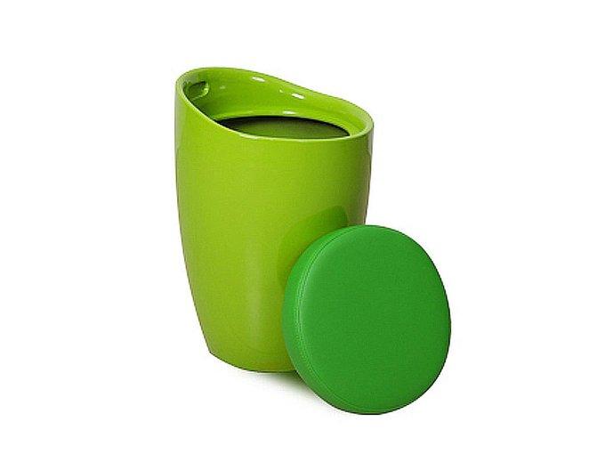 Пуф Bocha с ёмкостью для хранения зеленого цвета