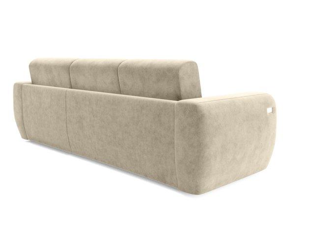 Угловой диван-кровать светло-бежевого цвета