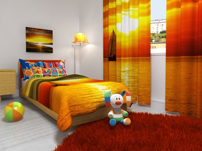 Комплект для спальной комнаты: Райский закат