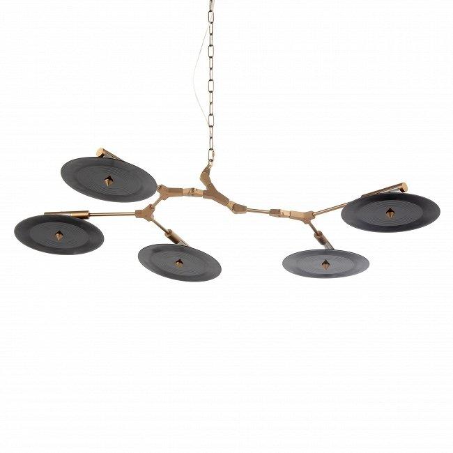 Подвесной светильник Branching Discs из пластика и стали