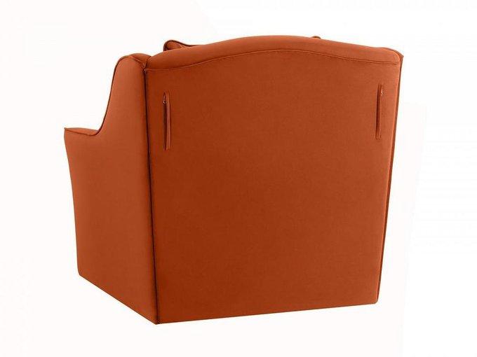 Кресло Vermont коричнево-оранжевого цвета