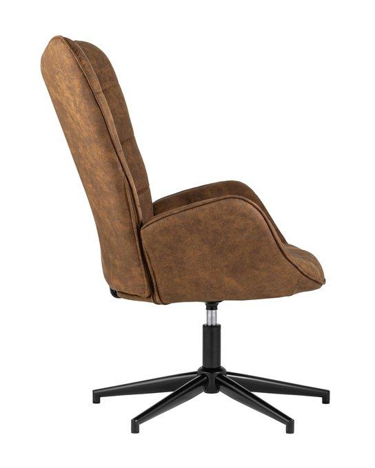 Кресло Ирис вращающееся коричневого цвета