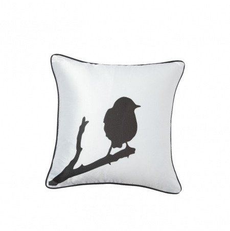 Подушка с принтом Lone Bird White