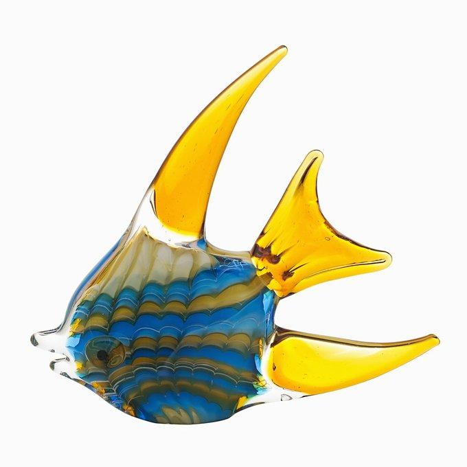 "Статуэтка ""Рыба"" желто-голубая"