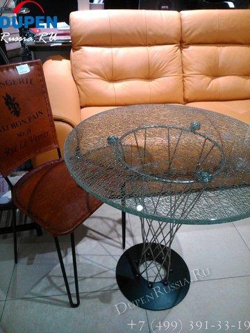 Обеденный стол с эффектом битого стекла
