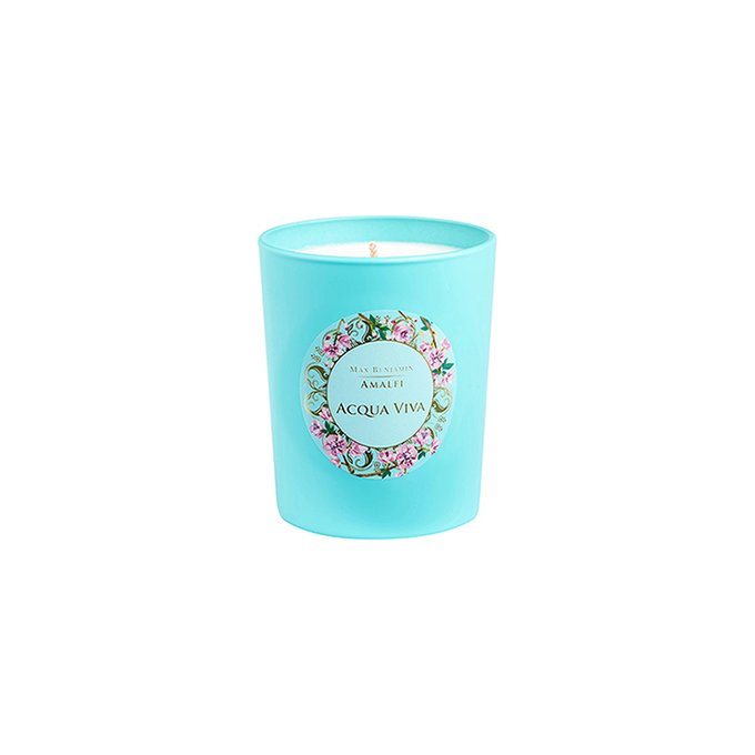 Ароматическая свеча Amalfi Acqua Viva бирюзового цвета