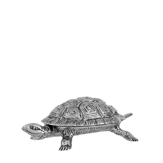 Шкатулка Tortoise S серебристого цвета