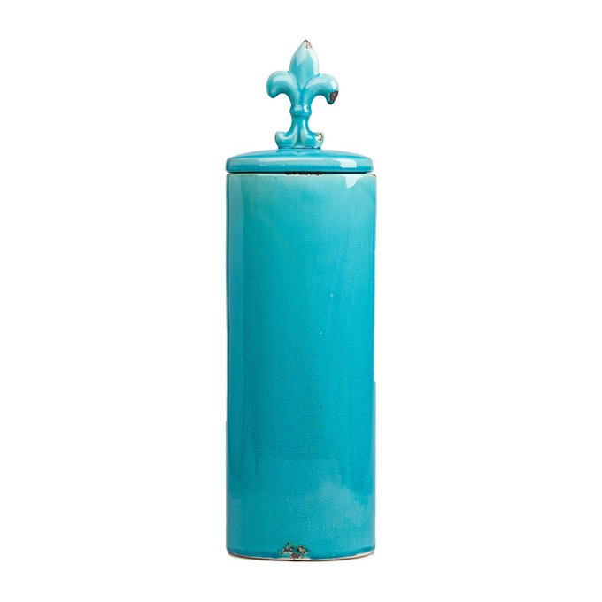 Декоративная ваза с крышкой Cannister для хранения продуктов Голубая