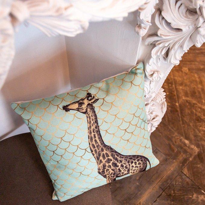 Интерьерная подушка Самый высокий бирюзового цвета