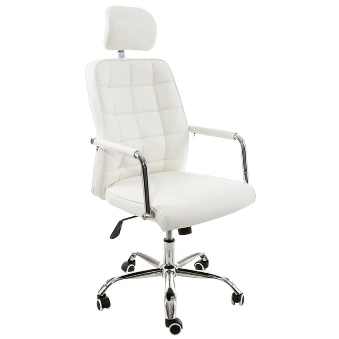 Компьютерное кресло Atlas белого цвета