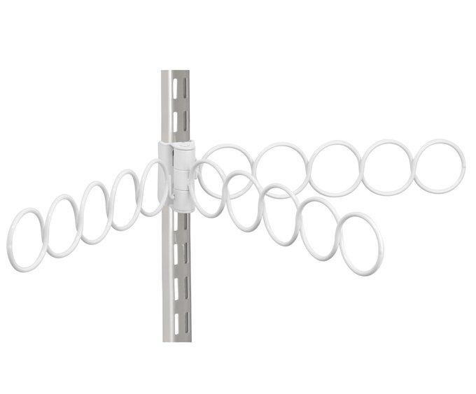 Вешалка для шарфов Tru-grasp белого цвета