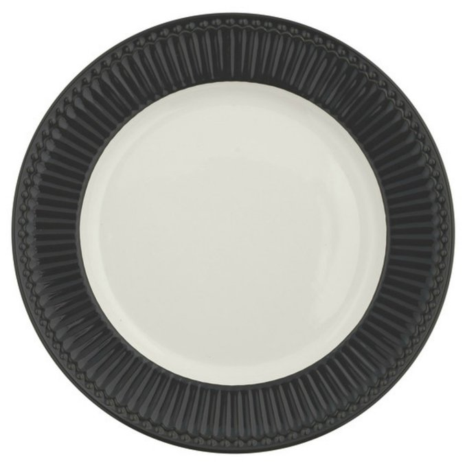 Блюдо Alice dark grey из фарфора