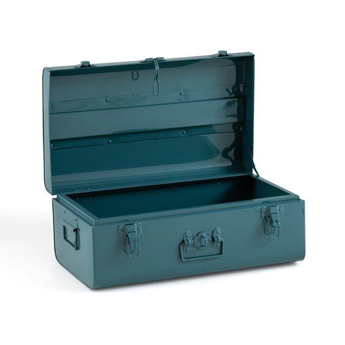 Сундук-чемодан Masa из металла зеленого цвета