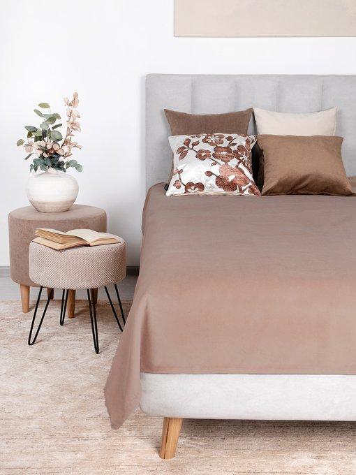 Покрывало Uno Dandy Wood 140х210 светло-коричневого цвета
