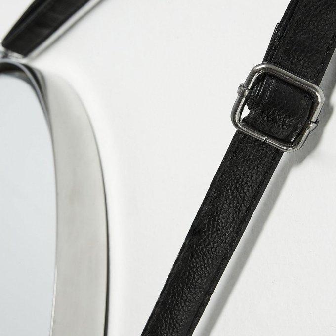 Настенное зеркало Elne с рамой в виде металлического диска