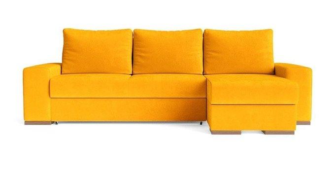 Угловой диван-кровать Матиас желтого цвета