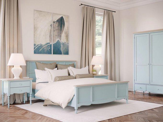 Кровать двуспальная Leblanc бежевого цвета 180х200