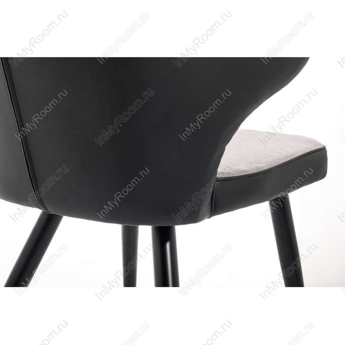 Стул Calipce light grey черно-серого цвета