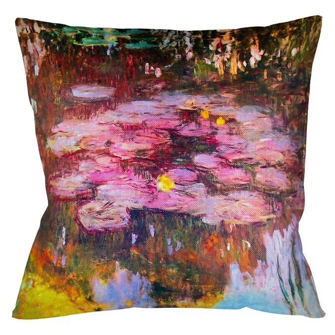 Декоративная арт подушка Водяные лилии 1917