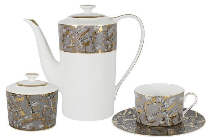 Чайный сервиз Злата из костяного фарфора