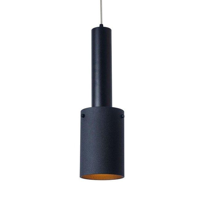 Подвесной светильник Rod с плафоном черного цвета