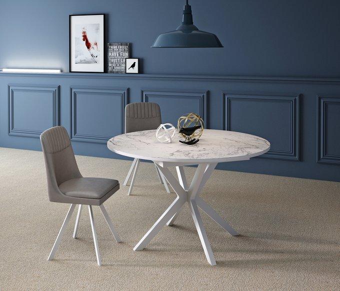 Стол обеденный Corvus раскладной белого цвета