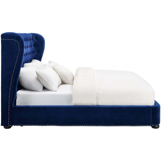 Кровать Brussel синего цвета 160х200