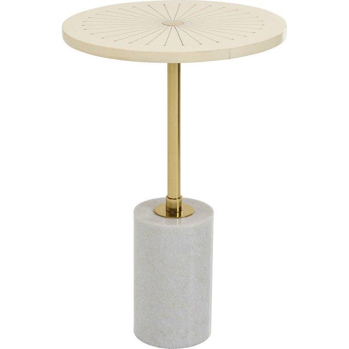 Столик приставной Sunbeam с золотой столешницей
