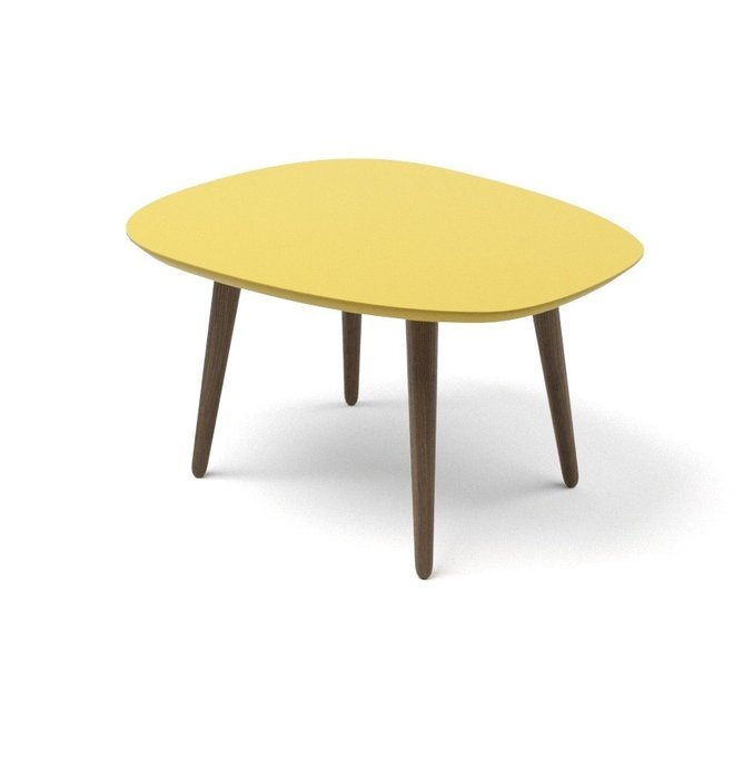 Журнальный стол River Round желтого цвета
