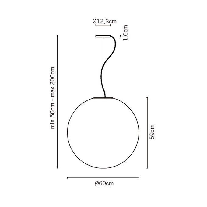 Подвесной светильник Fabbian SFERA из белого стекла