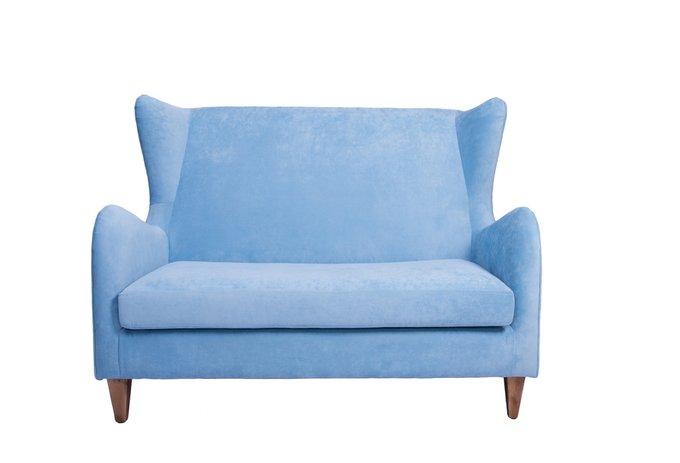 Двухместный диван Lisa M голубого цвета
