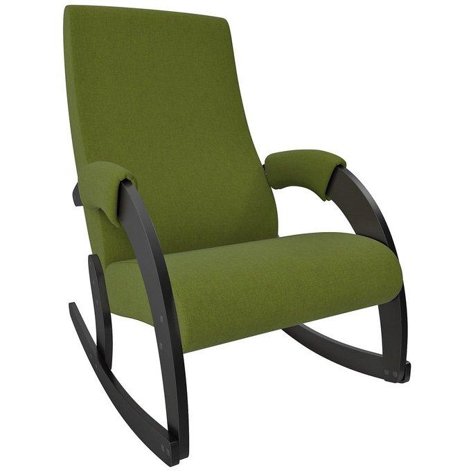 Кресло-качалка Модель 67М зеленого цвета