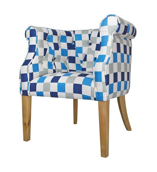Низкие кресла для дома Laela cubes vol.2 с деревянными ножками