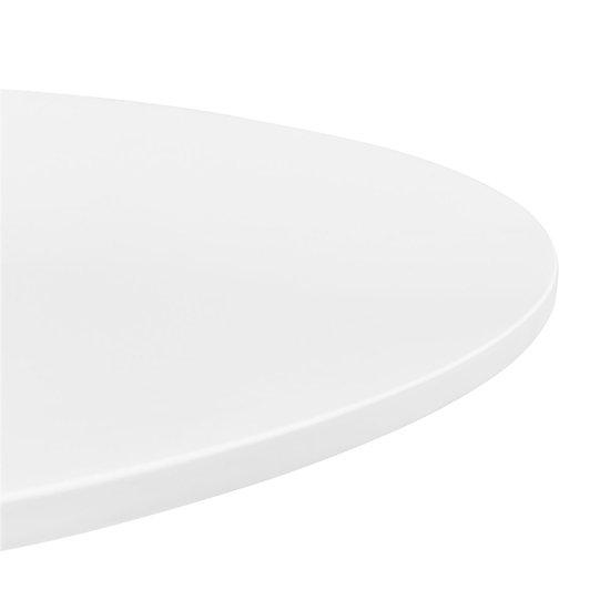Стол Tulip с круглой столешницей белого цвета 90х73