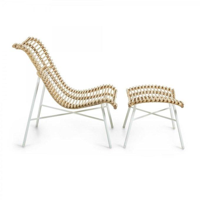 Кресло-шезлонг Crowley из ротангового дерева
