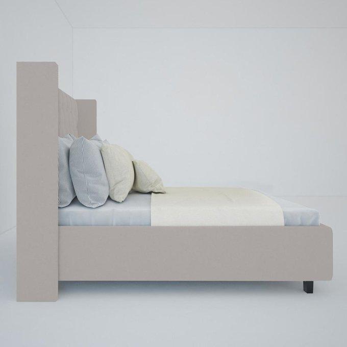 Кровать Wing-2 Велюр Бежевый 160x200