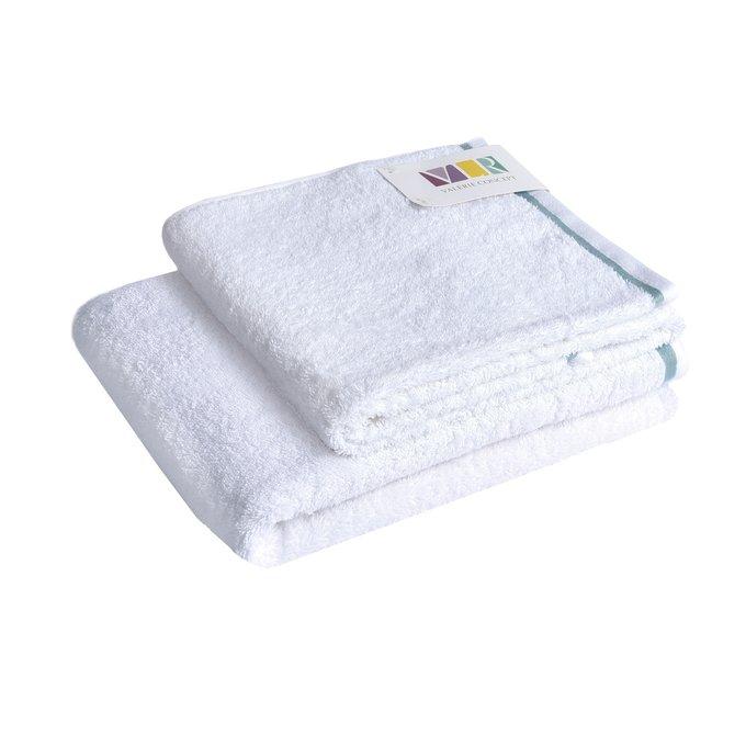 Полотенце из хлопка белого цвета 70х140