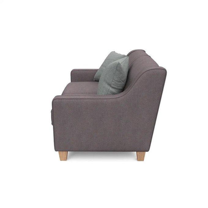 Двухместный диван-кровать Агата S коричневого цвета