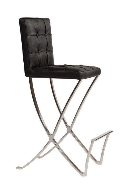 Стул Barcelona Dining Chair Черная Натуральная Кожа