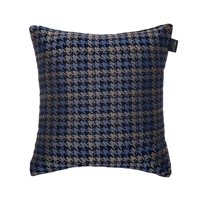 Декоративная подушка Milano Grace Indigo синего цвета