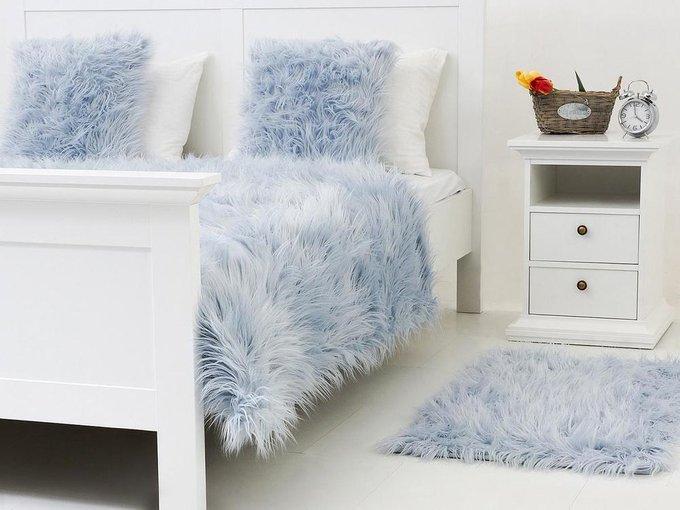 Плед Furry голубого цвета 130х170