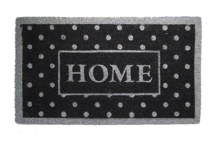 Придверный коврик черно-серого цвета 45х75