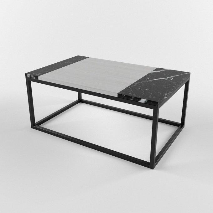 Журнальный столик с мраморной столешницей FRAGM nero