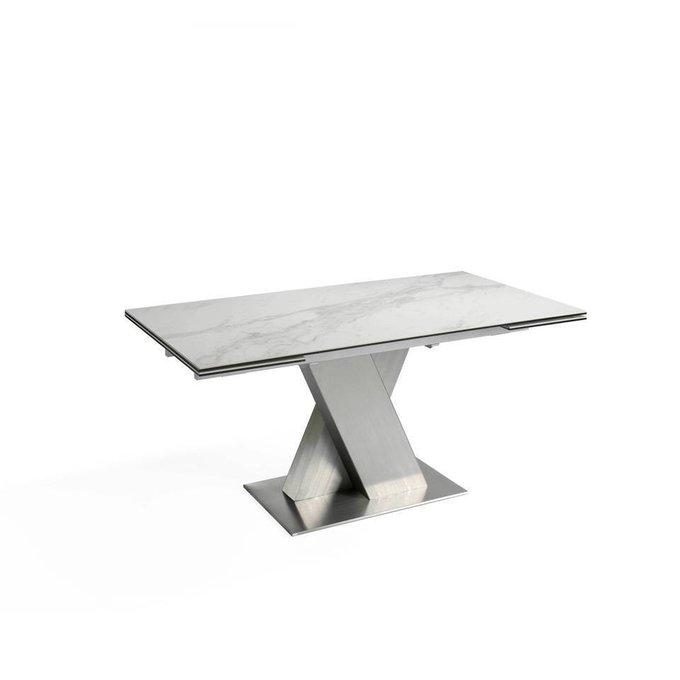 Раздвижной обеденный стол с мраморной столешницей